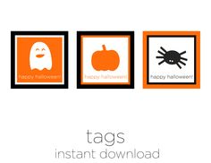 Printable Halloween Party Favor Tags