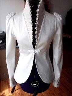 celia white jacket by LauraGalic on Etsy