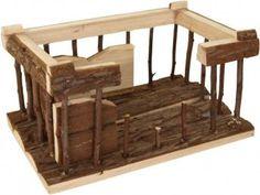 Dem bekannten Tempel in Griechenland ist das Nagerhaus Lyra nachempfunden. Durch das verarbeitete Rindenholz lädt zum knabbern ein und bietet so die ideale Zahnpflege.