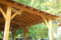 Tamarack Post and Beam Carport/Entry