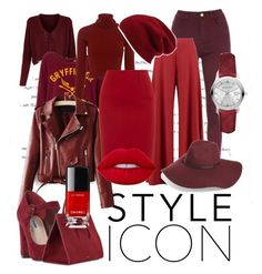 """""""Red again"""" by emily1200 ❤ liked on Polyvore featuring A.L.C., Boohoo, Paule Ka, Dune, Mansur Gavriel, Halogen, Burberry and Lime Crime"""