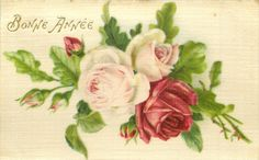 Bonne Annee ~ pink roses