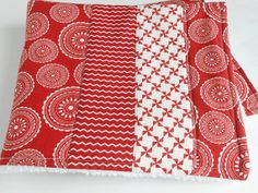 "Kitchen Dish Mat / Dish Drying Mat / Kitchen Dish Towel in Red and White ""Mama Said Sew"" Fabric by Sweetwater"