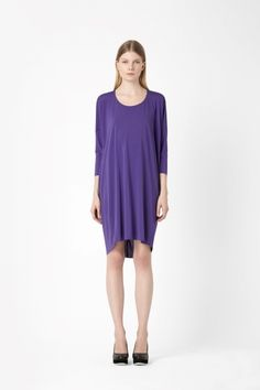 Love this colour. Raw edge jersey dress from Cos.