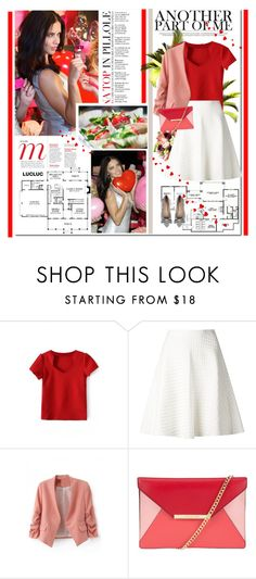 """Adriana Lima"" by anabella507 ❤ liked on Polyvore featuring Victoria's Secret, Home Source International, Theory, MICHAEL Michael Kors, Sole Society, red, stripes, Model, VictoriasSecret and pointytoeflats"