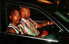 The famous photograph of Shakur and Suge Knight just moments before the shooting.