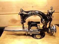 Antique Willcox Gibbs Hat machine sewing machine, Restored 1896