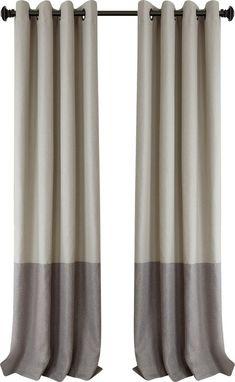 Tiffany Blackout Grommet Single Curtain Panel