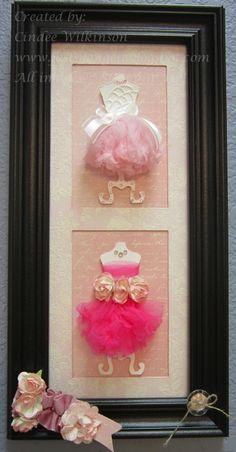 Dress Up Frame - great dresses minus the thing at the bottom of frame.. cute for girls wall.