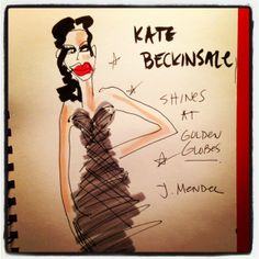 #KateBeckinsale #JMendel #goldenglobes #illustration @blankstareblink
