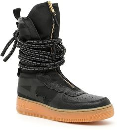Shop Sf Air Force 1 Hi Sneakers and save up to EXPRESS international shipping! Sneakers Fashion, Sneakers Nike, Wedge Sneakers, Me Too Shoes, Men's Shoes, Futuristic Shoes, Nike Sf Af1, Nike Boots, Shoe Department
