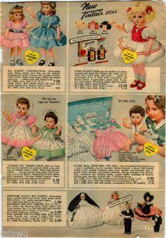 1951-ADVERTISEMENT-2-Pg-Doll-Effanbee-Tintair-Dy-Dee-Little-Playmate-Sings-Dye