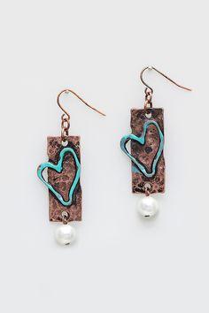 Beloved Earrings in Copper