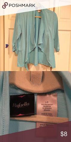Cascading jacket Bright turquoise light weight jacket. Rafaella Jackets & Coats