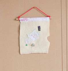 All that's left small textile wall hanging. Gift by halfoften