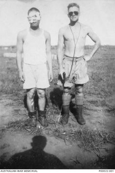 Sergeant (Sgt) Hajime Toyoshima (left), the first Japanese prisoner of war (POW). Bathurst Island, Navy Aircraft Carrier, Pearl Harbor Attack, Man Of War, Prisoners Of War, Military History, World War Two, Ww2, Air Raid