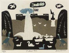 yama-bato:  Julian Trevelyan RA (1910-1988)  St. James' Park...