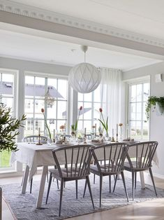 〚 New home, traditional comfort: another beautiful Swedish cottage 〛 ◾ Photos ◾ Ideas ◾ Design #diningroom #set #table #chairs #interior #design #homedecor #home #decor #interiordesign #idea #inspiration #cozy #living #space #style