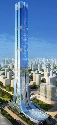 Construction has just started on what is going to be China's second-largest skyscraper the 'Evergrande tower' designed by Terry Farrell, and Partners. Unusual Buildings, Interesting Buildings, Amazing Buildings, Modern Buildings, Architecture Unique, Futuristic Architecture, British Architecture, Future Buildings, Design Exterior