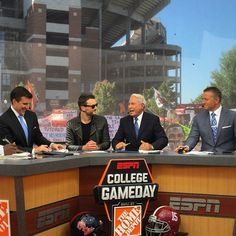 Chief with College Gameday crew on ESPN!