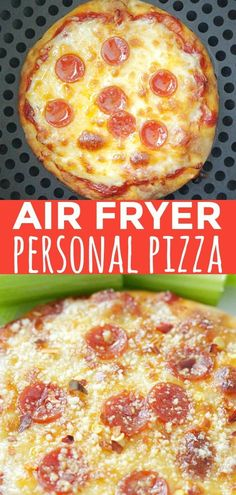 Surprisingly low in calories and amazingly satisfying these Perfect Personal Piz. - Surprisingly low in calories and amazingly satisfying these Perfect Personal Pizzas (in an Air Frye - Air Fryer Oven Recipes, Air Frier Recipes, Air Fryer Dinner Recipes, Power Air Fryer Recipes, Power Air Fryer Xl, Air Fryer Deals, Cooks Air Fryer, Air Fryer Review, Air Fried Food