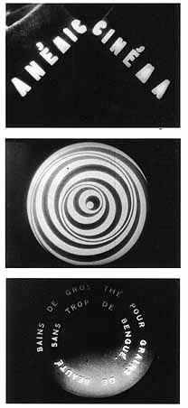 """Anemic Cinema"", 1926, by Marcel Duchamp;  Dadaist and Surrealist film;"