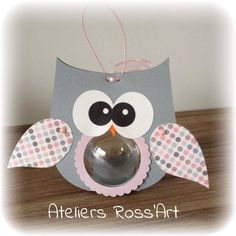 boite à dragées à personnaliser thème hibou - chouette : Autres bébé par ateliers-ross-art