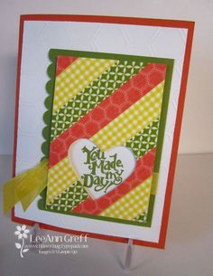 Tarjeta de felicitación con washi tape. Consigue tus washis favoritos en www.lamardewashitapes.es