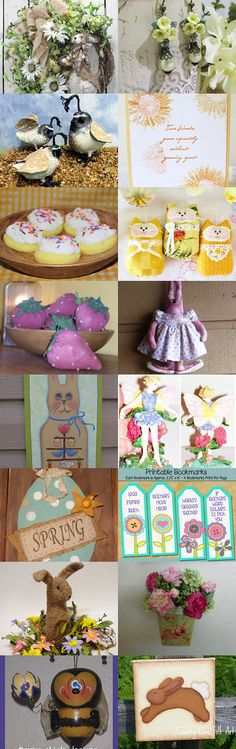 I'm Thinking Spring with TeamHAHA! by Connie Smith on Etsy--Pinned with TreasuryPin.com
