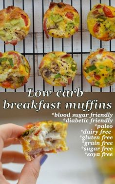 The Big Diabetes Lie Recipes-Diet Low-carb, blood sugar friendly breakfast muffin recipe. This is free from any nasty additives and will keep you full until lunch! The Big Diabetes Lie Recipes-Diet Low Sugar Recipes, No Sugar Foods, Dairy Free Recipes, Keto Recipes, Diabetic Breakfast Recipes, Lunch Recipes, Free From Recipes, Low Carb Low Salt Recipes, Health Muffin Recipes