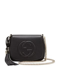 Soho+Leather+Chain+Crossbody+Bag,+Black+by+Gucci+at+Neiman+Marcus. 1st love and always will remain #gucciproblems