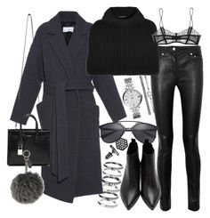 """""""Untitled #19432"""" by florencia95 ❤ liked on Polyvore featuring M.N.G, Acne Studios, Raey, Derek Lam, FOSSIL, Maison Close, Yves Saint Laurent, Simply Vera and Fendi"""
