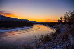 Masjok river in North Norway 21. Oct 2014