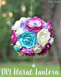 Make your own pretty floral DIY lantern crafts. These fun lanterns are perfect for any indoor or outdoor gathering!