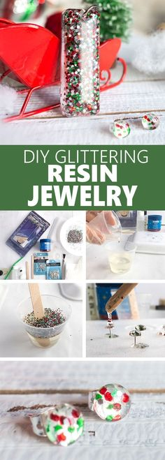 Such a cute and easy gift idea for a child, coworker… Festive DIY resin earrings! Such a cute and easy gift idea for a child, coworker, family member or friend. Resin Jewelry Tutorial, Resin Jewelry Making, Resin Tutorial, Resin Jewellery, Diy Resin Flower Jewelry, Amber Jewelry, Jewellery Making, Diy Tutorial, Silver Jewelry