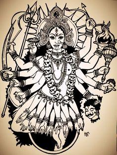 Kali, Indian Goddess by schonheit.deviantart.com on @DeviantArt