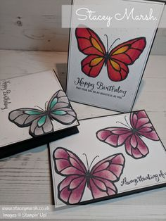 Stampin' Up! Beautiful Day Stamp Set Stampin' Up! Birthday Card Stampin' Up! Stampin' Blends Stampin' Up! Butterfly