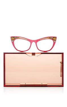 Spectacles Pandora Rectangular Clutch by CHARLOTTE OLYMPIA Now Available on Moda Operandi...I was so disappointed when I realized the glasses were part of the bag and not an item onto themselves.