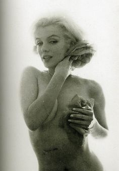Marilyn and her human condition by Bert Stern.