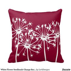 Rest your head on one of Zazzle's Change Background Color decorative & custom throw pillows. Diy Pillows, Decorative Throw Pillows, Change Background, Colorful Pillows, Perfect Pillow, White Flowers, Colorful Backgrounds, Home Accessories, Crafty