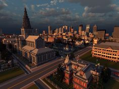 I'll be showing some screenshots and renders of the city of Huntington, a project I've been leading for the last 2 years or so. The city is. Minecraft Skyscraper, Minecraft Bridges, Minecraft Building Guide, Minecraft Room, Minecraft City, Minecraft Plans, Minecraft Architecture, Minecraft Blueprints, Minecraft Creations