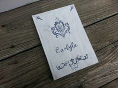 Personalized rustic wedding guest book vintage by PineNsign, $29.95