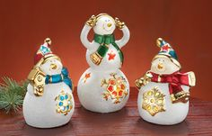 Lighted Snowman Christmas Holiday Home Decor- Set of 3