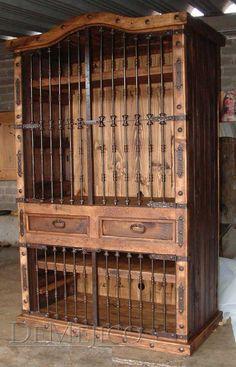 clavos idea for great room cabinet  Armario Calabozo Estillo Hacienda