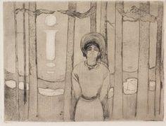 david curcio, edvard munch, the voice, drypoint, etching  open bite, etchingprintmaking