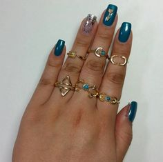 Boho Midi and Knuckle Rings Bohemian Tribal Hippy Hipster Beach Turquoise Arrow Moon The Iced Sugar Cookie Bohemian Rings, Boho, Arrow Nails, Hipster Beach, Nail Charms, Knuckle Rings, Midi Rings, Ankle Bracelets, Coachella