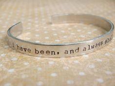 Star Trek Jewelry / Star Trek Friendship Bracelet / Spock Jewelry / I have been, and always shall be, your friend