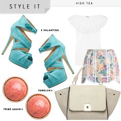 summer pastels. $39.95 handbag or heels