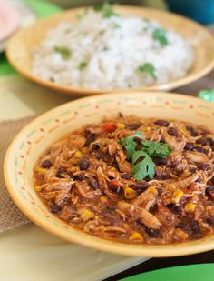 Super easy, time saving and perfectly tasty, this Crock-Pot Southwest Chicken Chili and Cilantro Lime Rice is the perfect meal for a special gathering or just whenever.