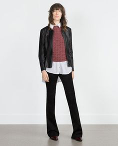 ZARA - WOMAN - PEPLUM LEATHER-EFFECT JACKET Ref. 6318/221 $69.90
